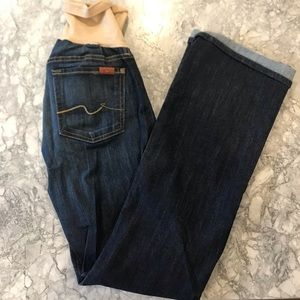 7 for all mankind maternity jeans - like new!